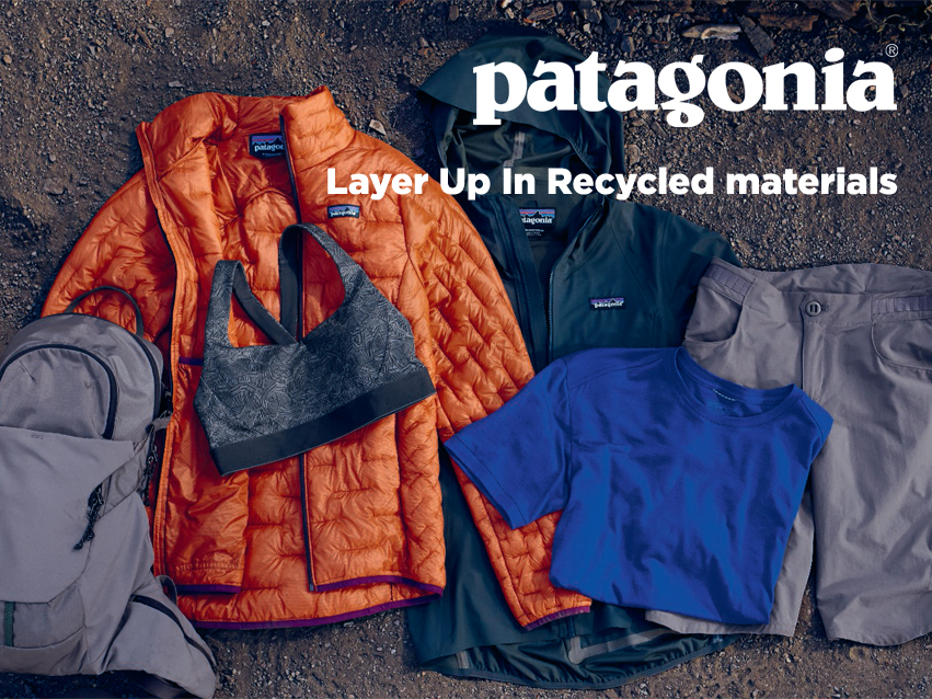 Dress up with recycled materials with Patagonia